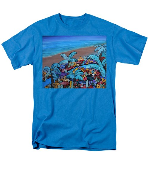 Men's T-Shirt  (Regular Fit) featuring the painting Santa Barbara Beach by Barbara St Jean