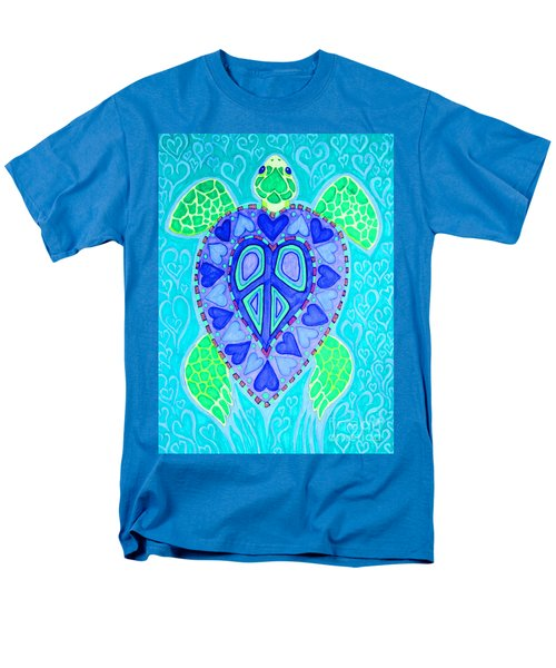 Sea Turtle Swim Men's T-Shirt  (Regular Fit) by Nick Gustafson