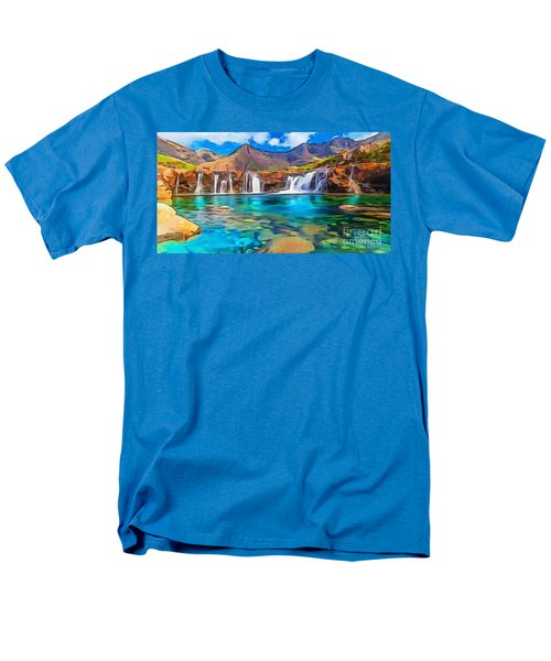 Serene Green Waters Men's T-Shirt  (Regular Fit) by Catherine Lott