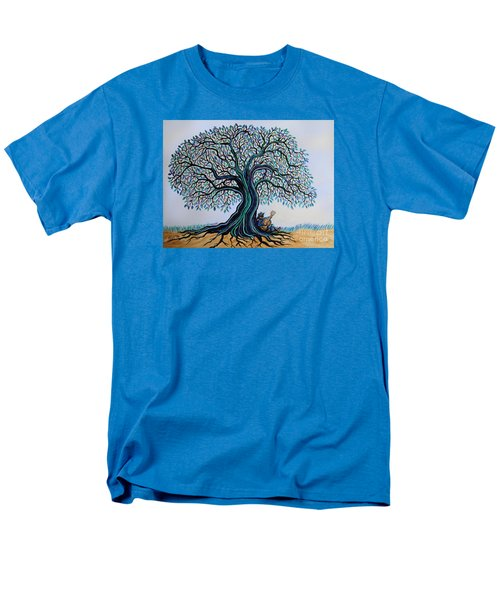 Singing Under The Blues Tree Men's T-Shirt  (Regular Fit) by Nick Gustafson