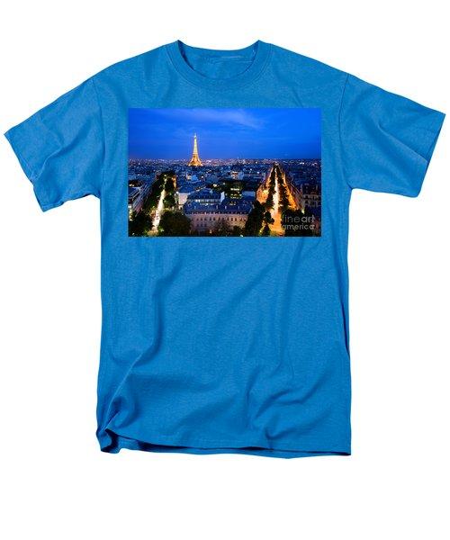 Skyline Of Paris Men's T-Shirt  (Regular Fit) by Michal Bednarek