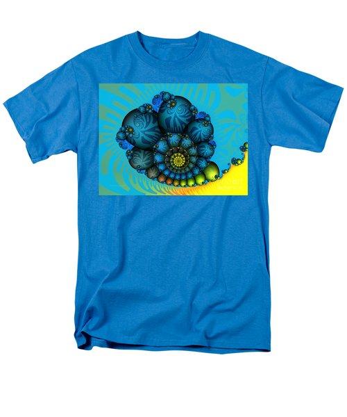 Snail Mail-fractal Art Men's T-Shirt  (Regular Fit) by Karin Kuhlmann