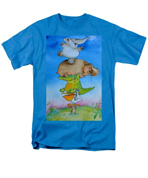 Super Mouse Pen & Ink And Wc On Paper Men's T-Shirt  (Regular Fit) by Maylee Christie