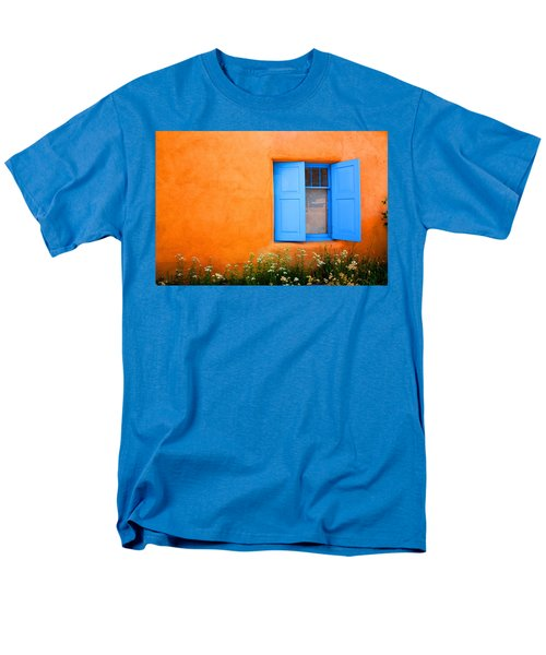 Men's T-Shirt  (Regular Fit) featuring the photograph Taos Window IIi by Lanita Williams