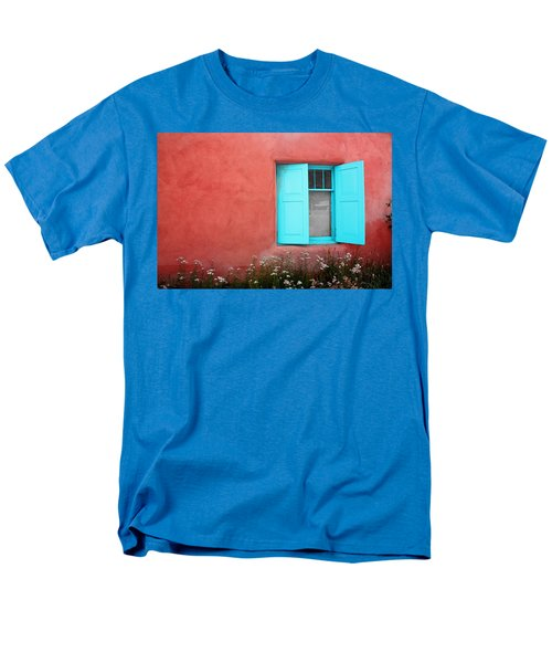 Men's T-Shirt  (Regular Fit) featuring the photograph Taos Window Iv by Lanita Williams