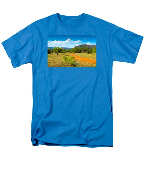 Men's T-Shirt  (Regular Fit) featuring the photograph Texas Hill Country Red Dirt Road by Darryl Dalton