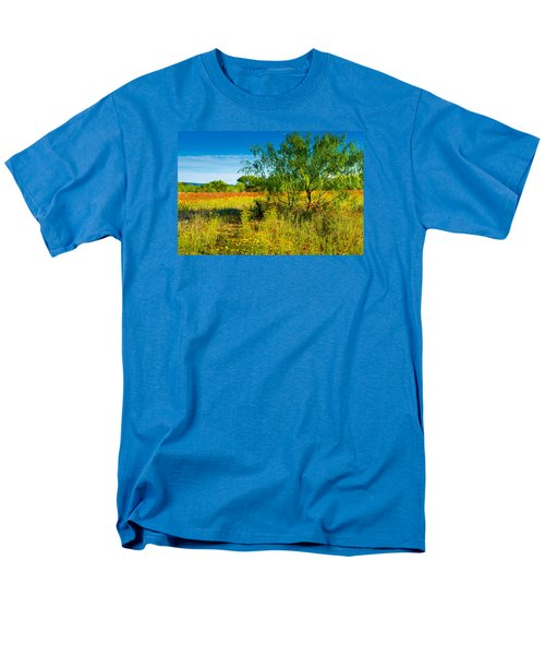 Men's T-Shirt  (Regular Fit) featuring the photograph Texas Hill Country Wildflowers by Darryl Dalton