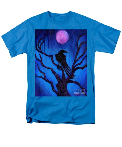 Men's T-Shirt  (Regular Fit) featuring the painting The Raven Nevermore by Roz Abellera Art