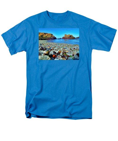 Glass Beach In Cali Men's T-Shirt  (Regular Fit) by Catherine Lott