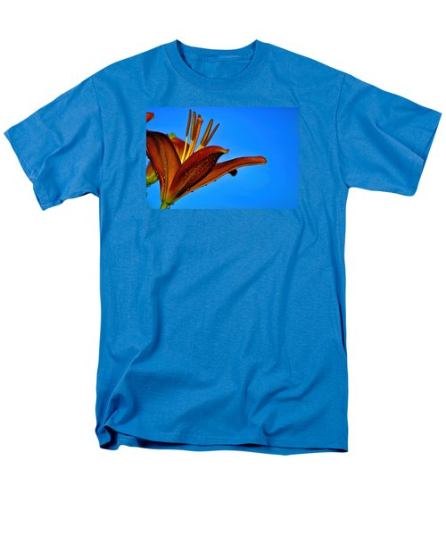 Thirsty Lily In Hdr Art Men's T-Shirt  (Regular Fit) by Lesa Fine
