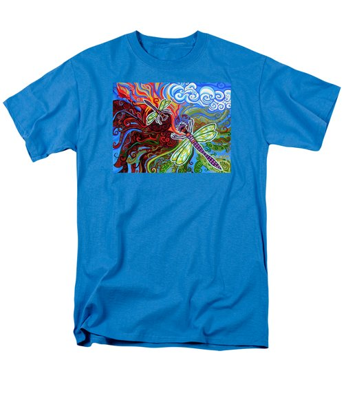 Two Dragonflies Men's T-Shirt  (Regular Fit) by Genevieve Esson