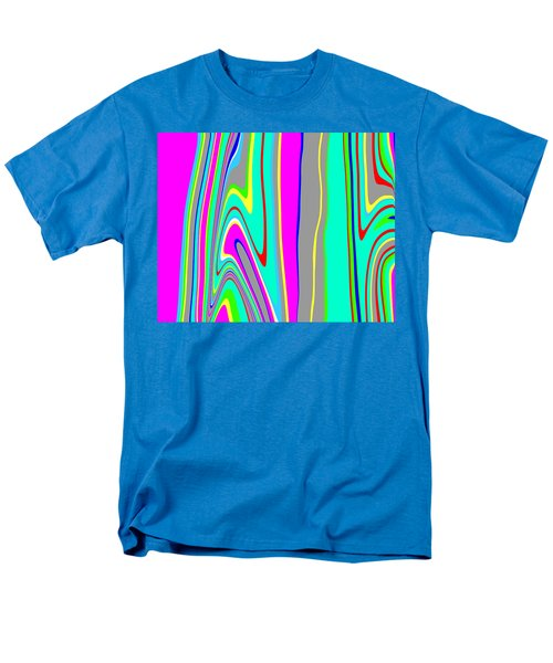 Men's T-Shirt  (Regular Fit) featuring the painting Yipes Stripes II  C2014 by Paul Ashby