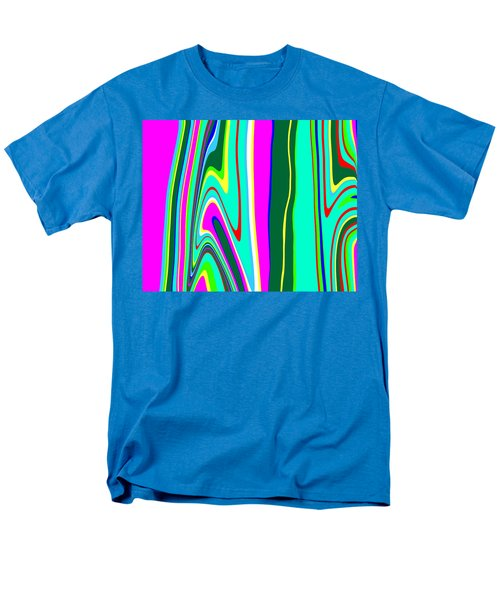 Men's T-Shirt  (Regular Fit) featuring the painting Yipes Stripes II Variation  C2014 by Paul Ashby