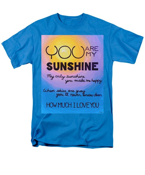 You Are My Sunshine Men's T-Shirt  (Regular Fit) by Kume Bryant