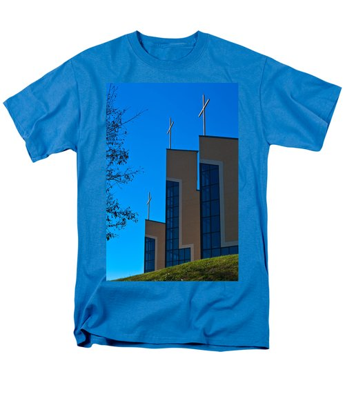 Men's T-Shirt  (Regular Fit) featuring the photograph Crosses Of Livingway Church by Ed Gleichman