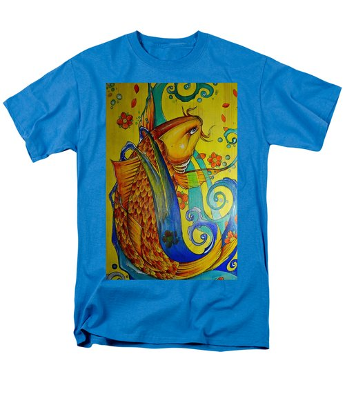 Golden Koi Men's T-Shirt  (Regular Fit) by Sandro Ramani