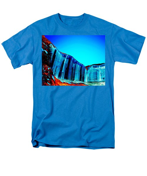 Lake Powell Blue Ice Men's T-Shirt  (Regular Fit) by Rebecca Margraf