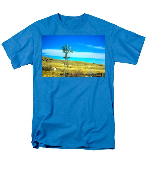 Men's T-Shirt  (Regular Fit) featuring the photograph Old Windmill by Shannon Harrington