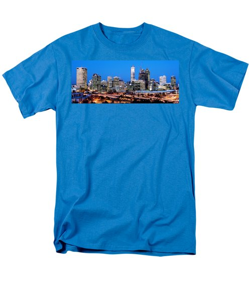 Perth City Night View From Kings Park Men's T-Shirt  (Regular Fit) by Yew Kwang