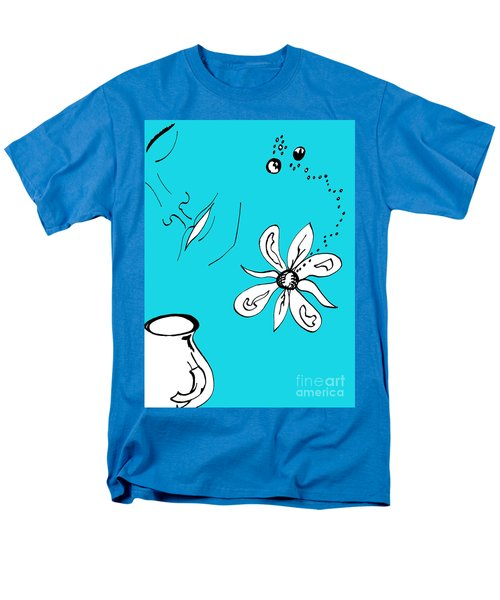 Serenity In Blue Men's T-Shirt  (Regular Fit) by Mary Mikawoz