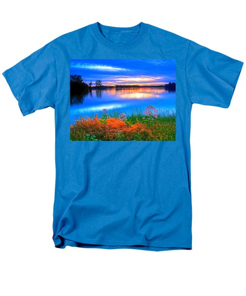 Men's T-Shirt  (Regular Fit) featuring the photograph Shoreline Sundown by Randall Branham