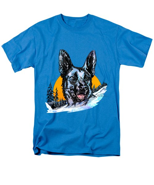 Men's T-Shirt  (Regular Fit) featuring the drawing  Alsatian by Andrzej Szczerski