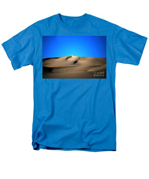 Yuma Dunes Number One Bright Blue And Tan Men's T-Shirt  (Regular Fit) by Heather Kirk