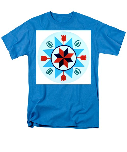 Men's T-Shirt  (Regular Fit) featuring the photograph Amish Hex Design by Paul W Faust - Impressions of Light