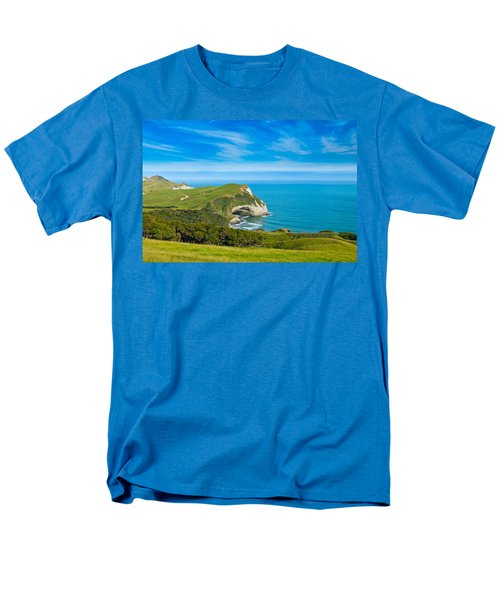 Cape Farewell Able Tasman National Park Men's T-Shirt  (Regular Fit) by Ulrich Schade