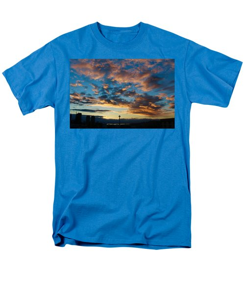 Space Needle In Clouds Men's T-Shirt  (Regular Fit) by Suzanne Lorenz