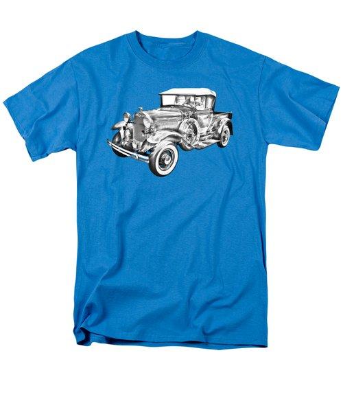 1930 Ford Model A Pickup Truck Illustration Men's T-Shirt  (Regular Fit) by Keith Webber Jr