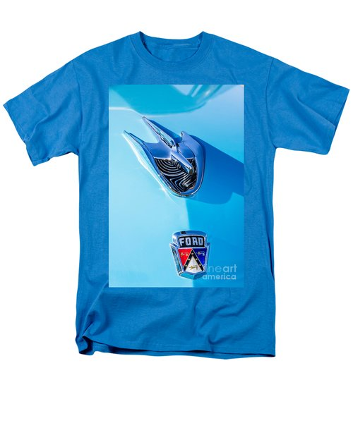 Men's T-Shirt  (Regular Fit) featuring the photograph 1956 Ford Hood Ornament by Aloha Art