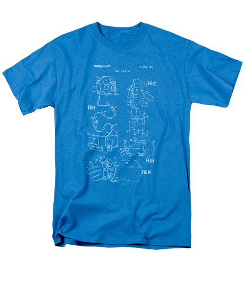 1973 Space Suit Elements Patent Artwork - Blueprint Men's T-Shirt  (Regular Fit) by Nikki Marie Smith