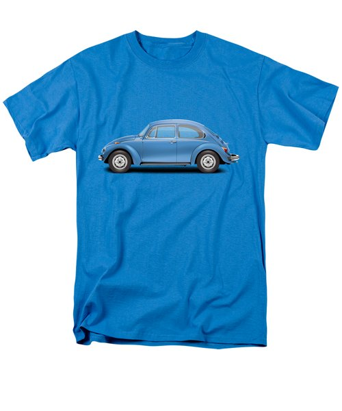 1975 Volkswagen Super Beetle - Ancona Blue Metallic Men's T-Shirt  (Regular Fit)