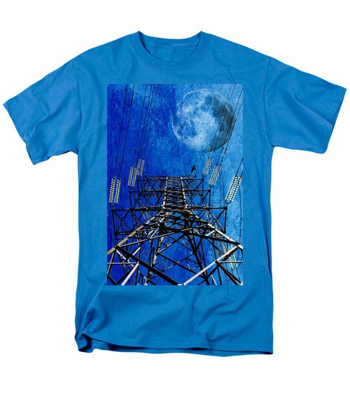 Electric Power Transmission... Men's T-Shirt  (Regular Fit) by Werner Lehmann