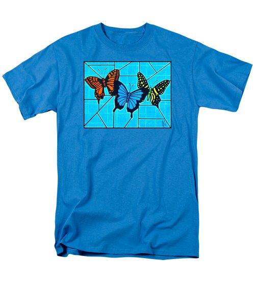 3  Butterflies On Blue Men's T-Shirt  (Regular Fit) by Jim Harris