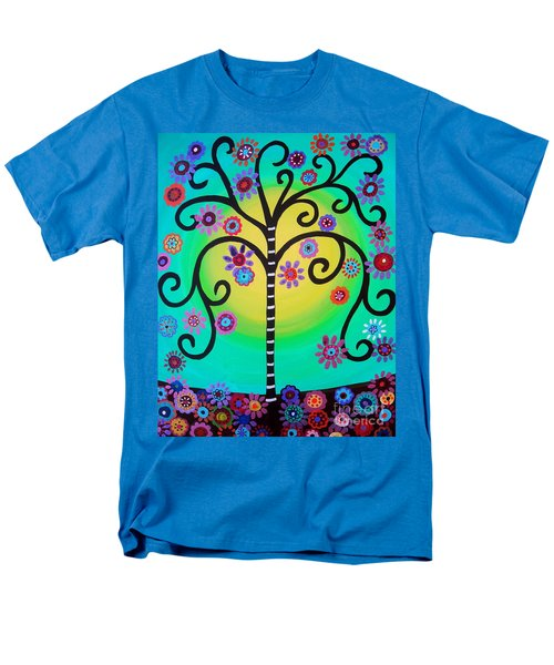 Men's T-Shirt  (Regular Fit) featuring the painting Tree Of Life by Pristine Cartera Turkus