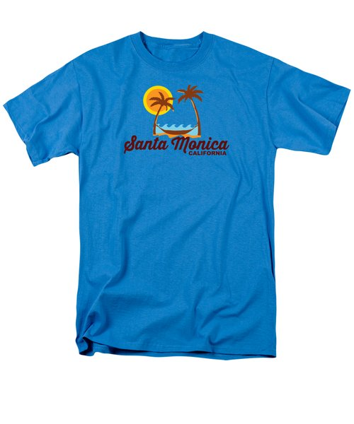 Santa Monica Men's T-Shirt  (Regular Fit) by American Roadside