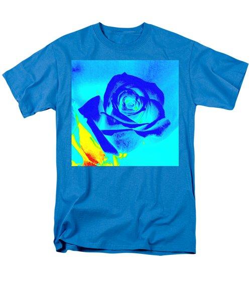 Abstract Blue Rose Men's T-Shirt  (Regular Fit) by Karen J Shine