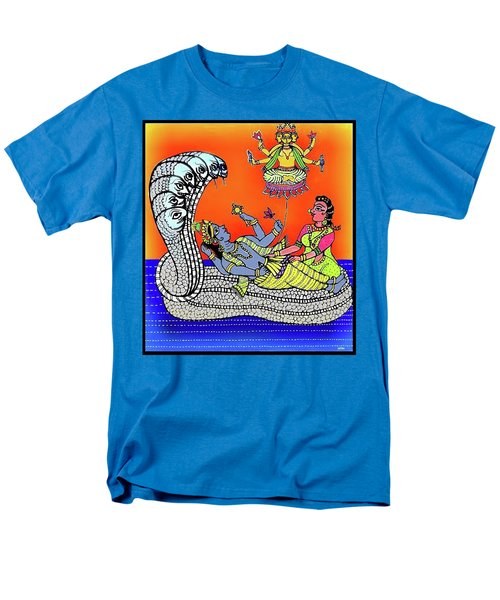 Anantha Sayanam-patta Chitra Style Men's T-Shirt  (Regular Fit) by Latha Gokuldas Panicker