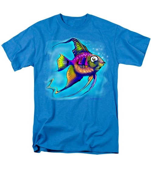 Men's T-Shirt  (Regular Fit) featuring the painting Angelfish by Kevin Middleton