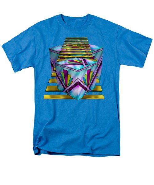 Art Deco Cubes 1 - Transparent Men's T-Shirt  (Regular Fit) by Chuck Staley