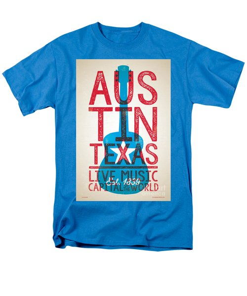 Austin Texas - Live Music Men's T-Shirt  (Regular Fit) by Jim Zahniser
