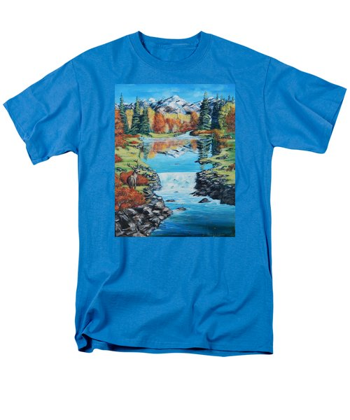 Autum Stag Men's T-Shirt  (Regular Fit) by Ruanna Sion Shadd a'Dann'l Yoder