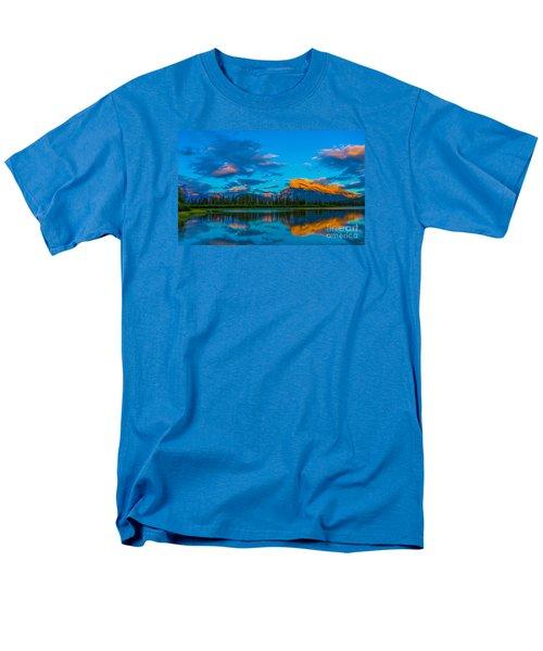 Banff Vermillion Lakes Men's T-Shirt  (Regular Fit) by John Roberts