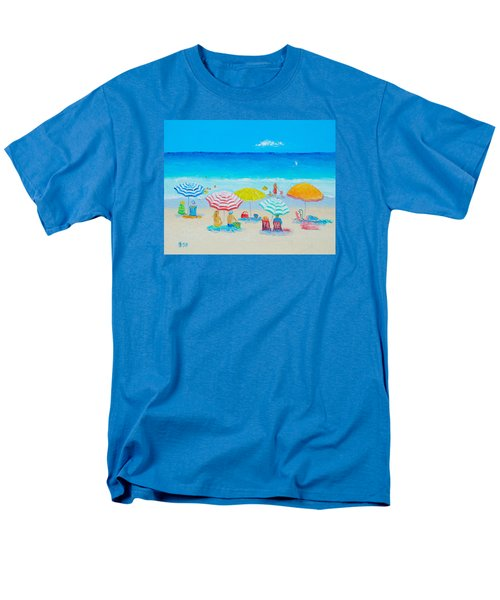 Beach Painting - Catching The Breeze Men's T-Shirt  (Regular Fit) by Jan Matson