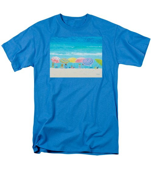 Beach Painting - Color Of Summer Men's T-Shirt  (Regular Fit) by Jan Matson