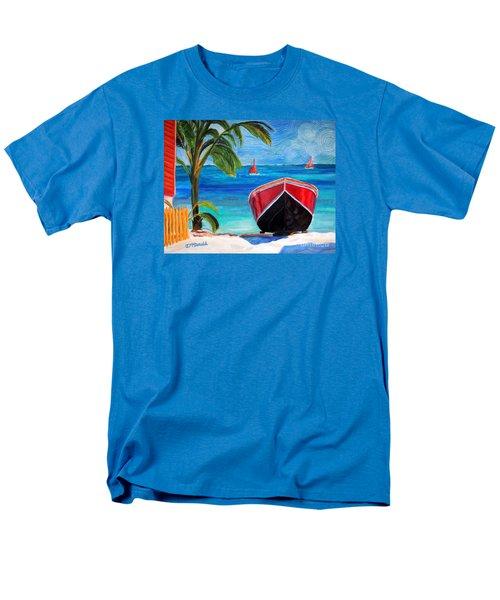 Men's T-Shirt  (Regular Fit) featuring the painting Belizean Dream by Janet McDonald