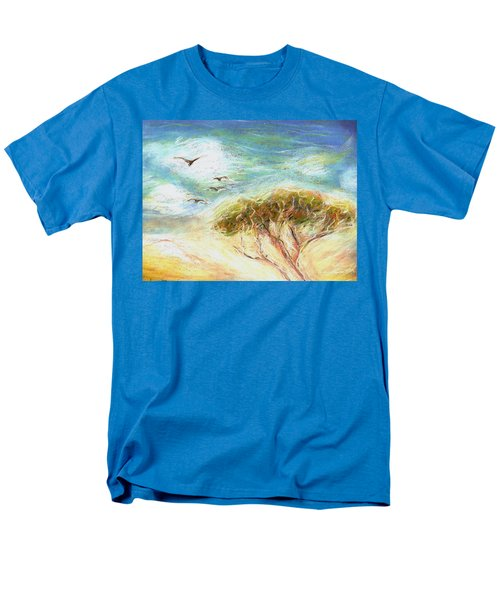 Men's T-Shirt  (Regular Fit) featuring the drawing Betty's Tree by Denise Fulmer