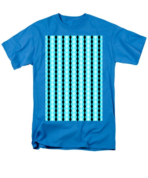 Black And Blue Diamonds Men's T-Shirt  (Regular Fit) by Bob Wall
